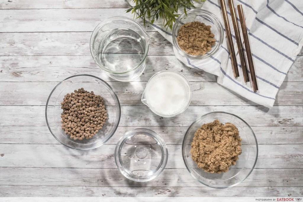 Brown Sugar Fresh Milk Recipe ingredients