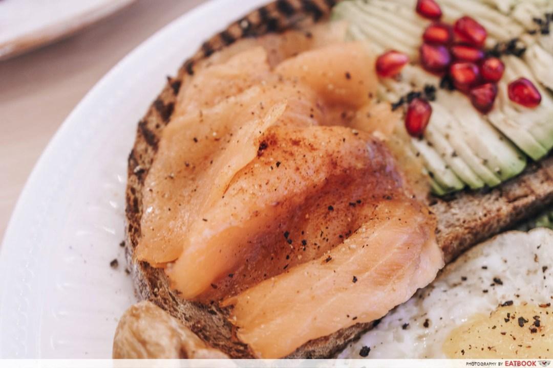 Cafe De Nicole's Flower - Avocado Toast With Smoked Salmon