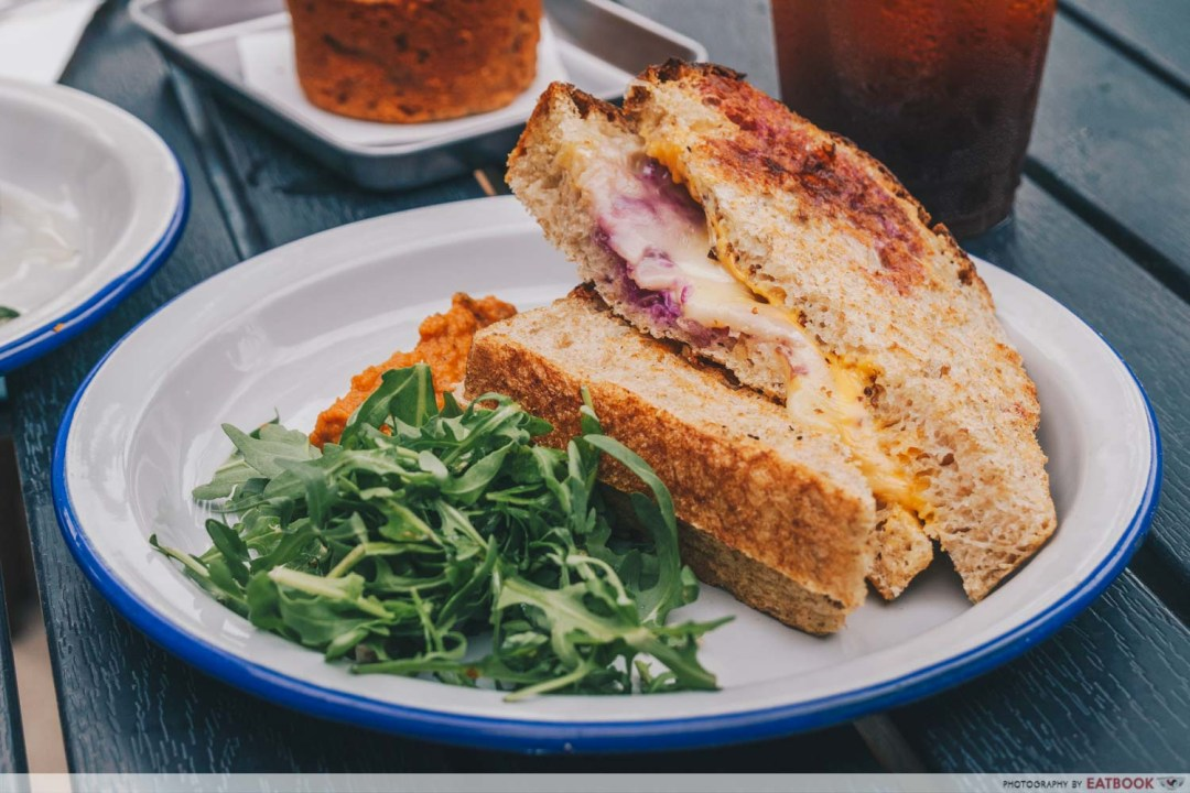 Micro Bakery and Kitchen grilled cheese sandwich