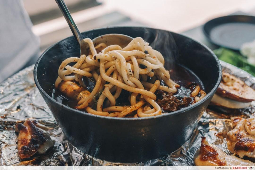 Sedap Mania - udon noodles taken out my ladle