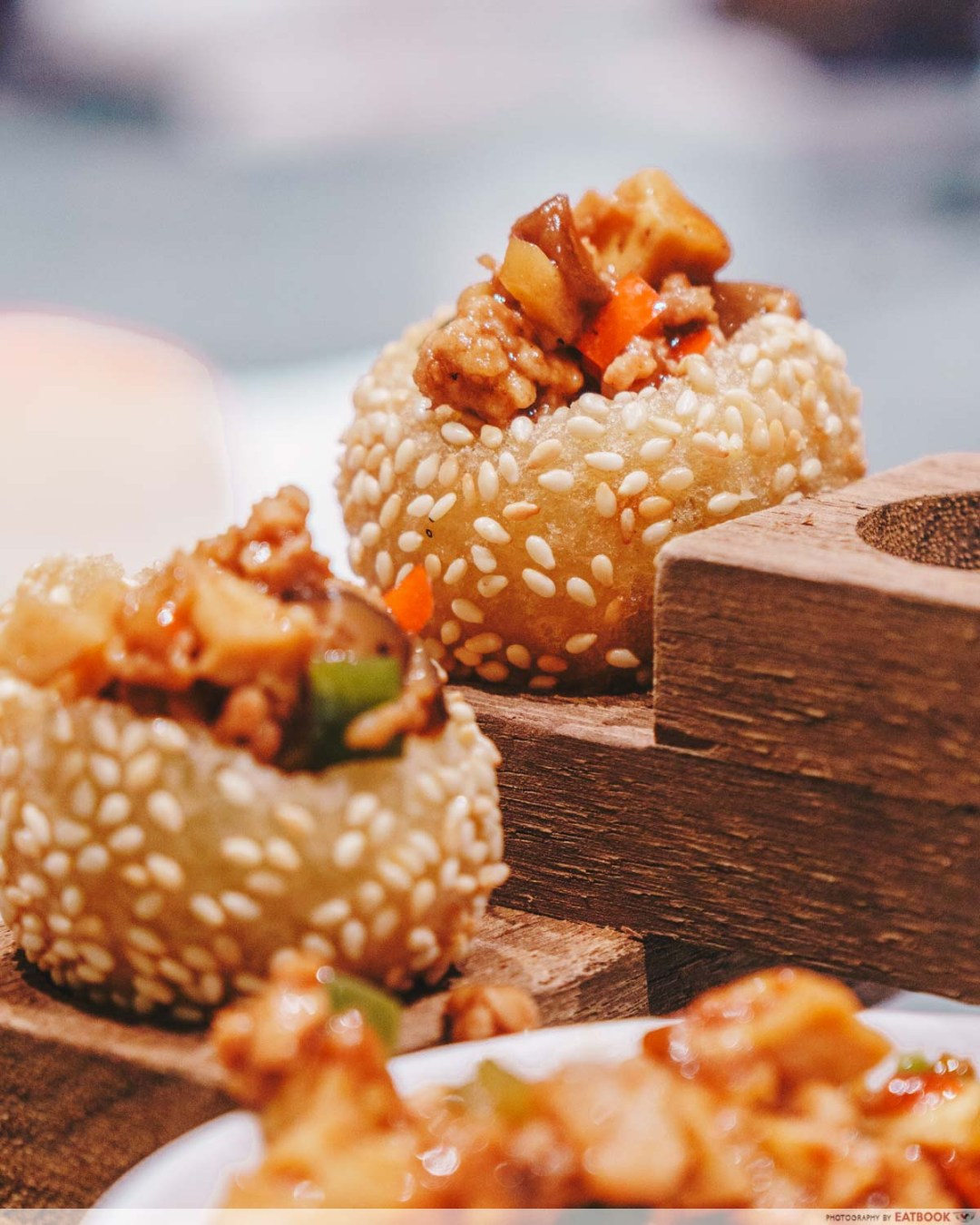 Shang Social - Jewel Deep fried golutinous rice ball with eight treasures