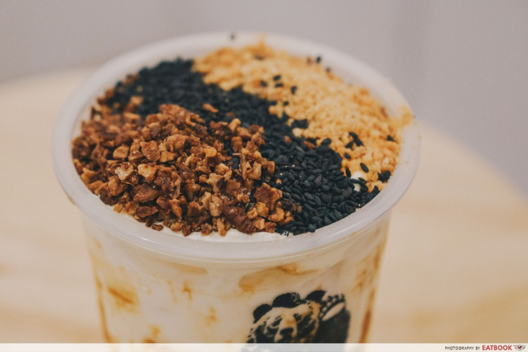 The Yunique Tea - Black Sesame, Peanut, Walnut Toppings
