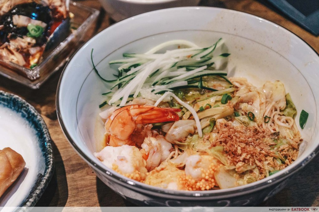 le shrimp star vista Le Shrimp Trio Tossed Ramen