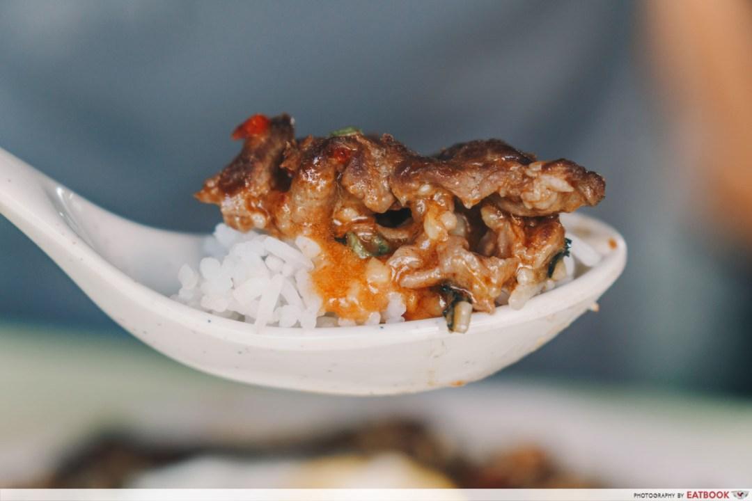 omar's halal thai beef noodles thai basil mutton scoop