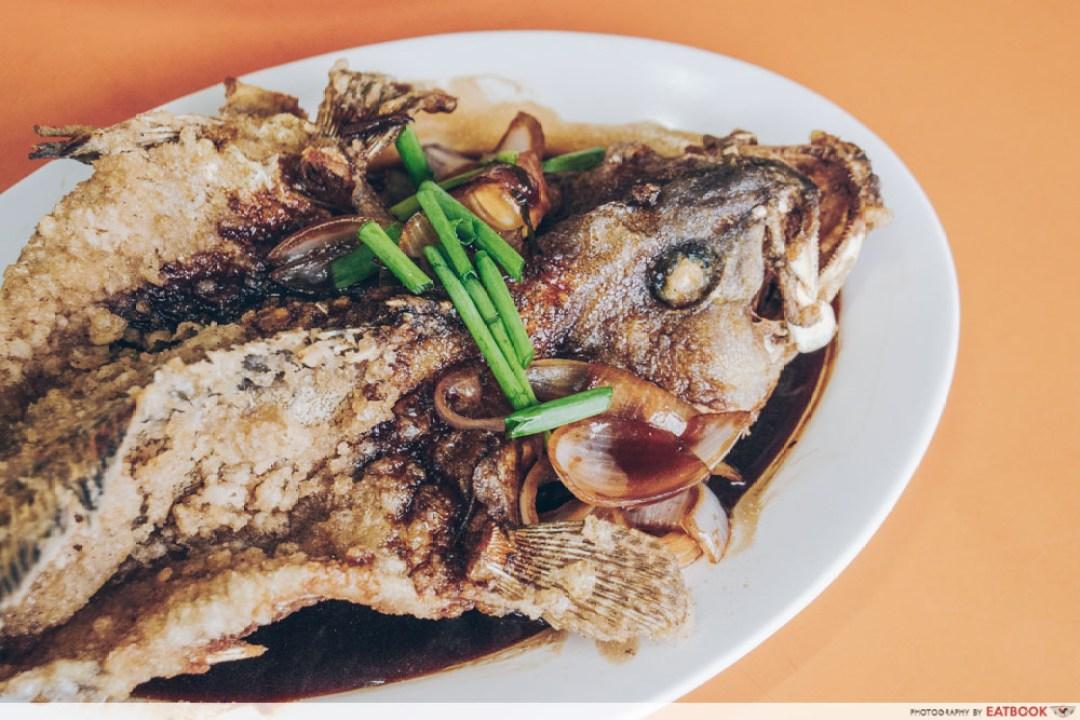 Luck Xiao Chao - deep fried grouper $10