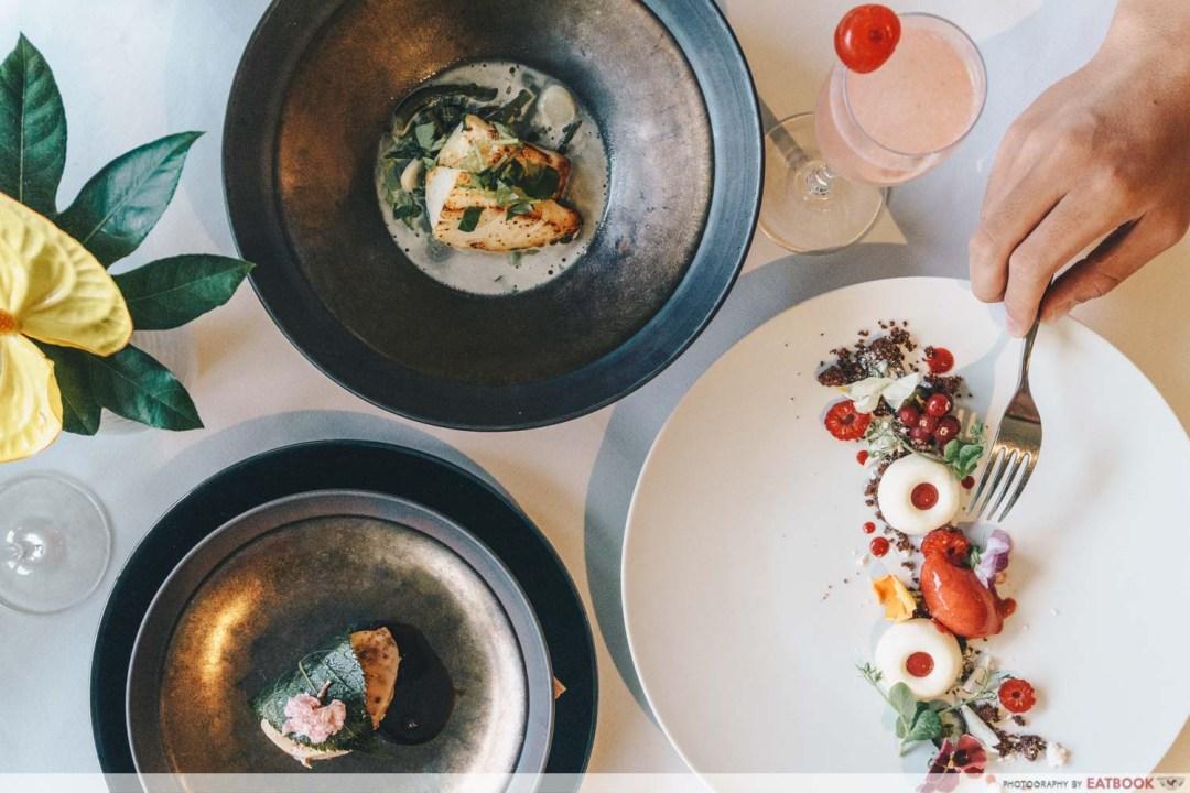 maybank michelin beautiful restaurants lewin terrace flatlay