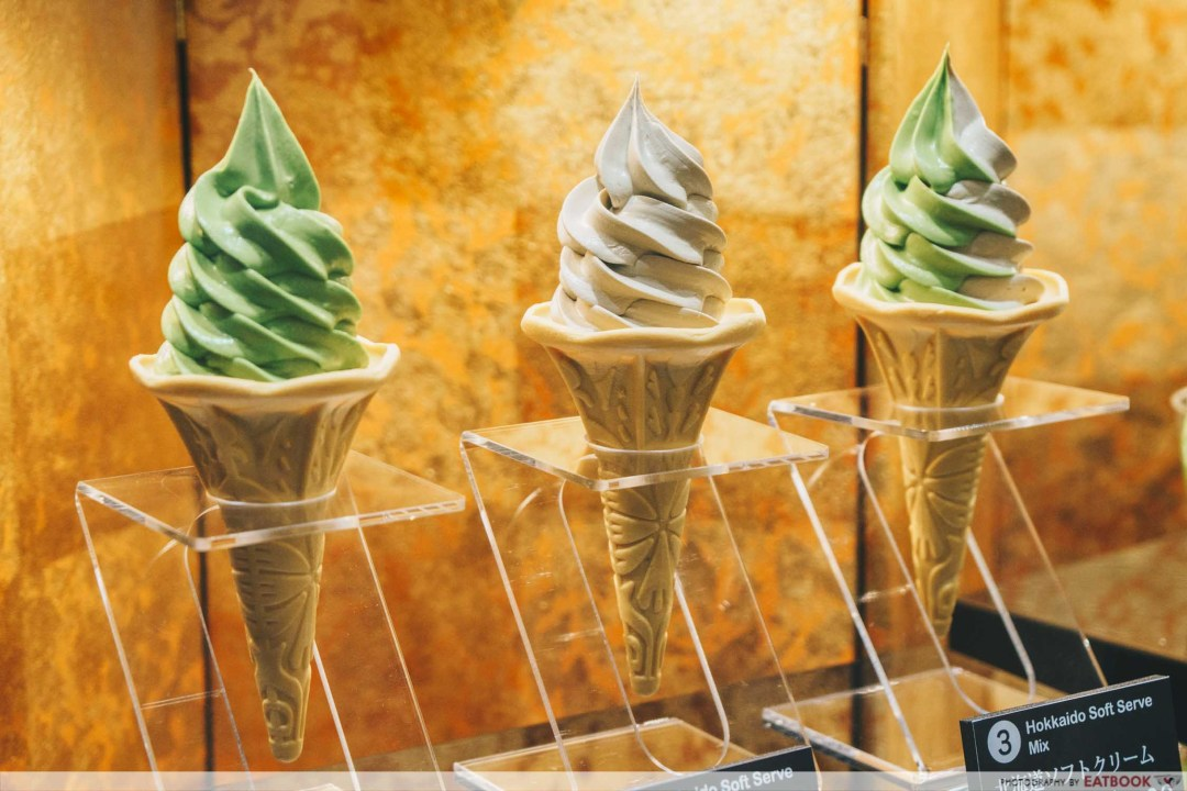 Soft serves on display