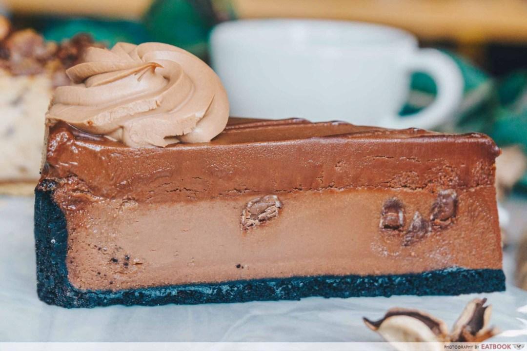 Beverly Hills Cheesecake - Godiva Double Chocolate Cheesecake Closeup