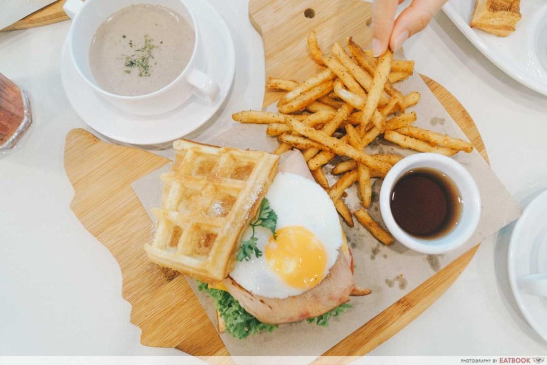 Cluck Cluck - Turkey waffle sandwich