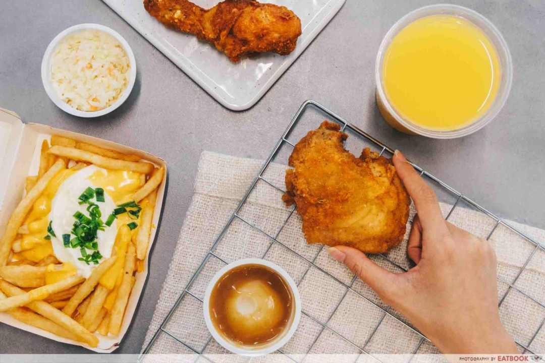 KFC food on a table