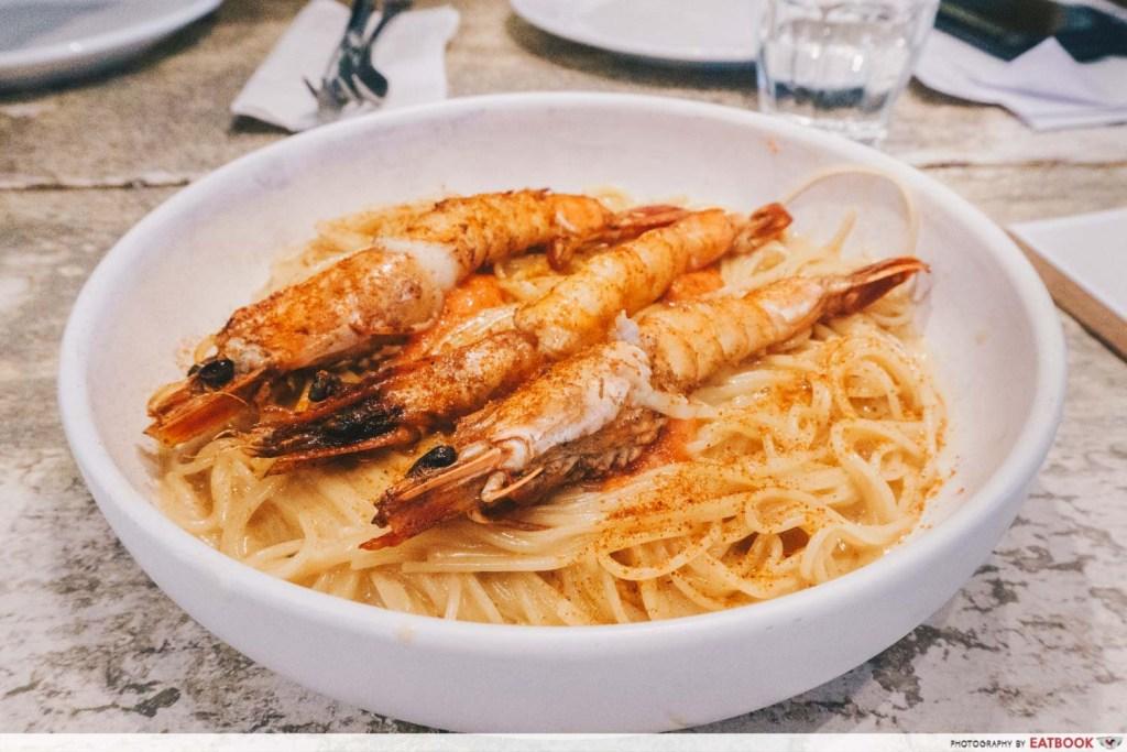 prawn with pasta