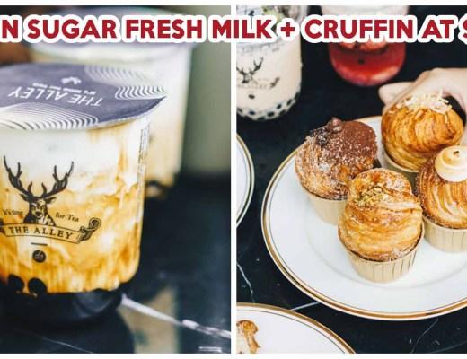 The Alley brown sugar fresh milk and cruffin