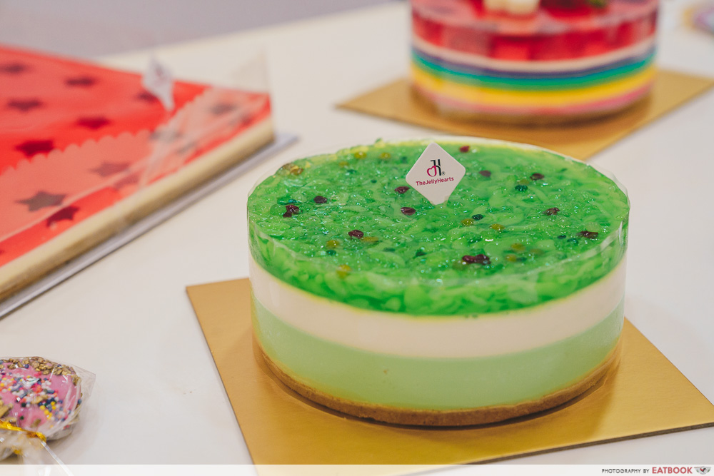 Green chendol cheesecake
