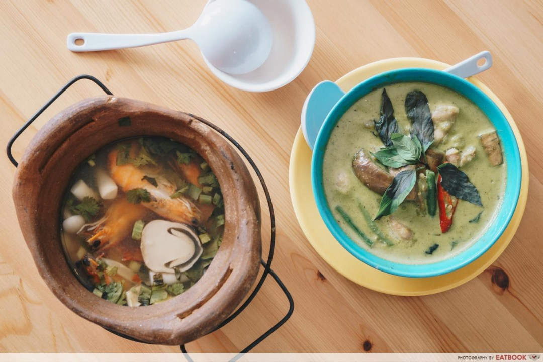 Tuk Wan Kitchen - Tom Yum and Green Curry