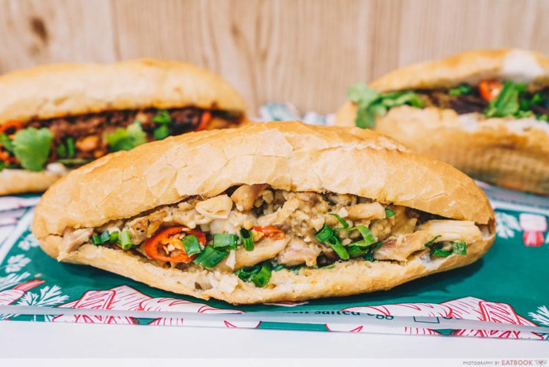 Banh You, Banh Mi - Salted egg chicken banh mi