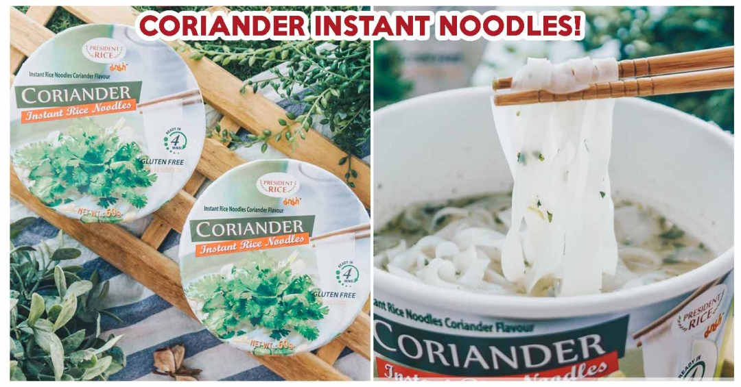 Coriander instant noodles