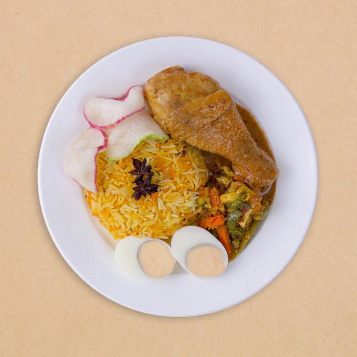 IKEA Salted Egg Chicken Wing - Chicken Briyani Set