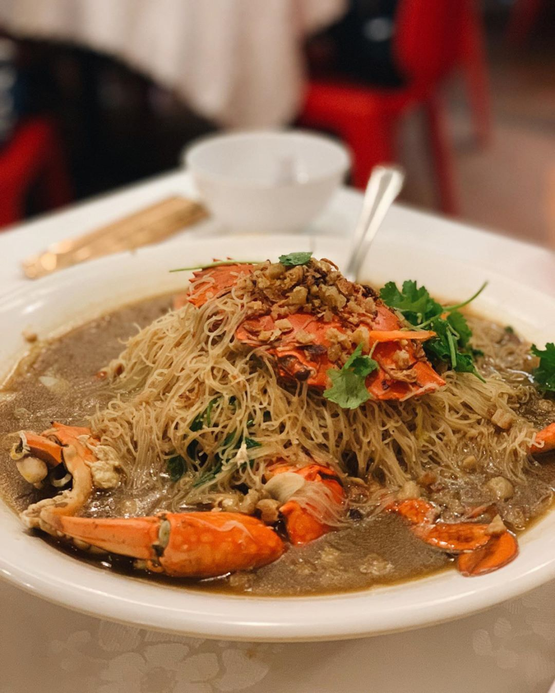 Crab Bee Hoon - Long Ji Zi Char