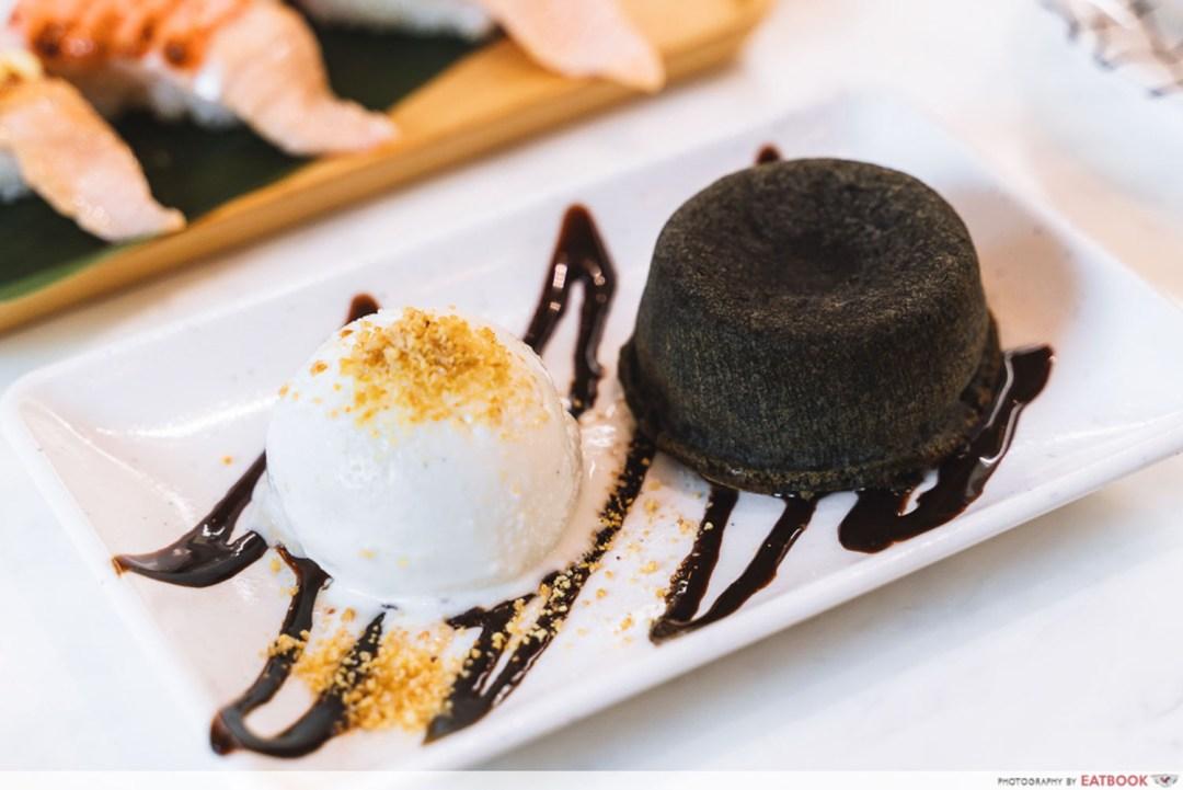 Sushi Plus - Black Sesame Molten Lava Cake
