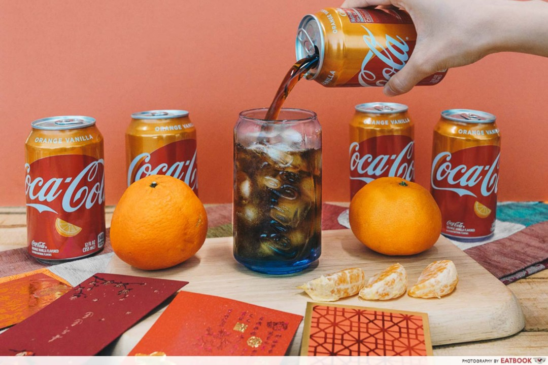 Orange Vanilla Coca Cola - Pouring