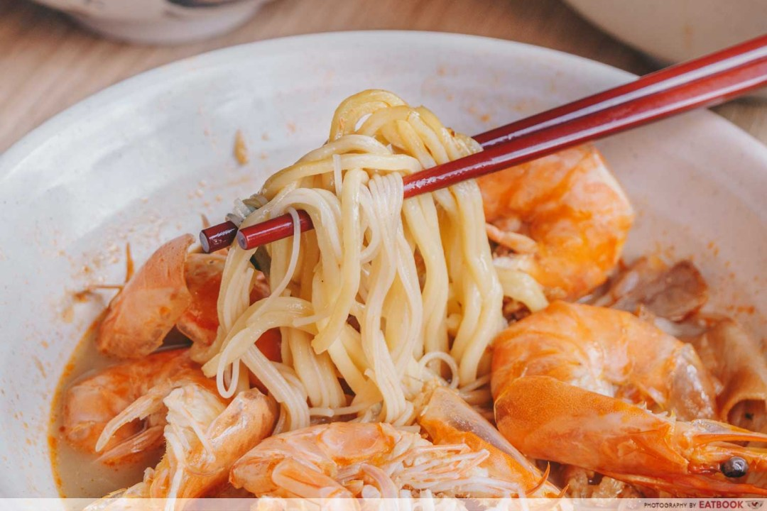 East Treasure Speciality Prawn Noodles - Mixed noodle pull