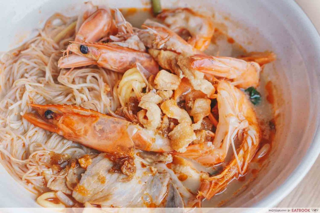 East Treasure Speciality Prawn Noodles - Pork lard