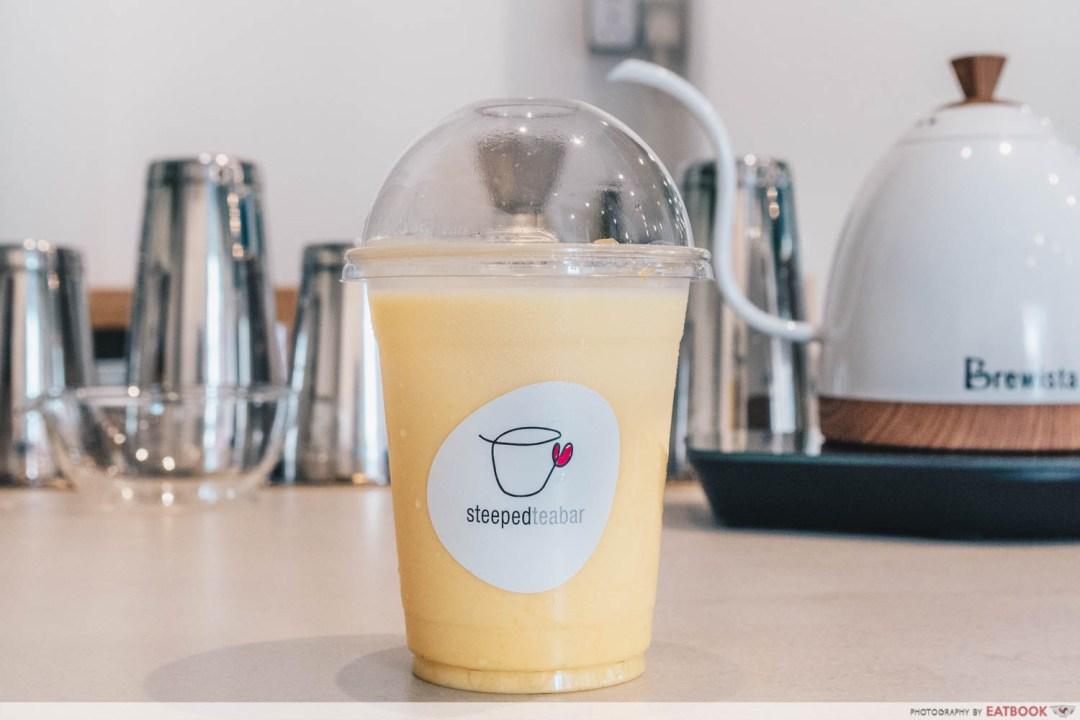 STEEPED Tea Bar - Mango fruit latte intro shot