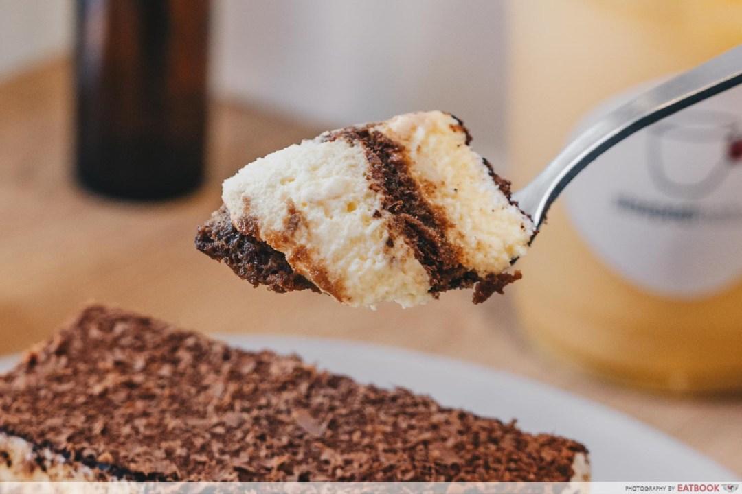 STEEPED Tea Bar - Portion of tiramisu cake