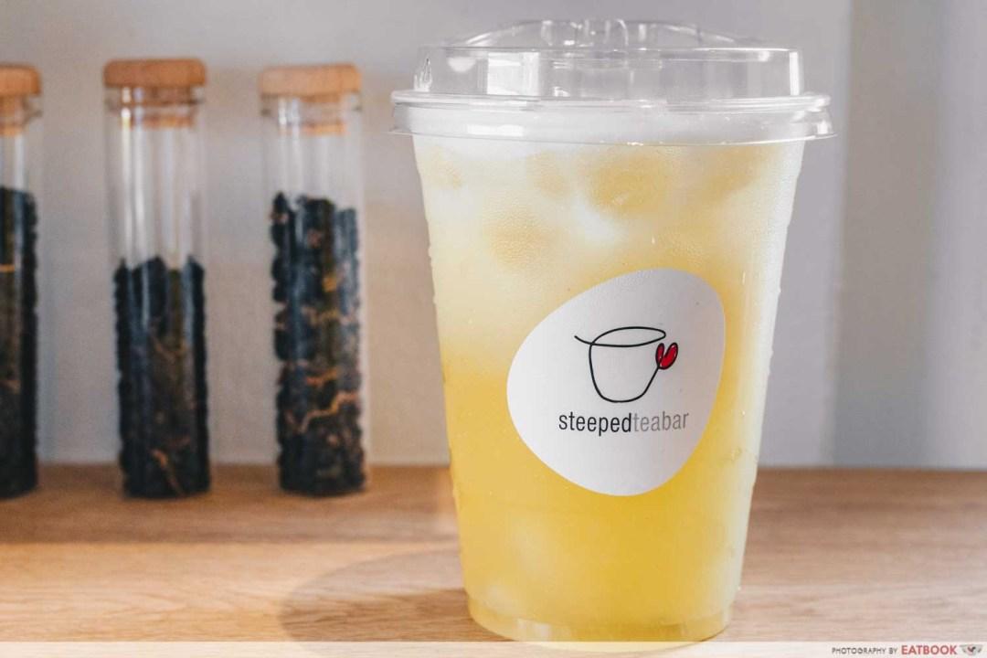 STEEPED Tea Bar - Soursop sencha intro shot