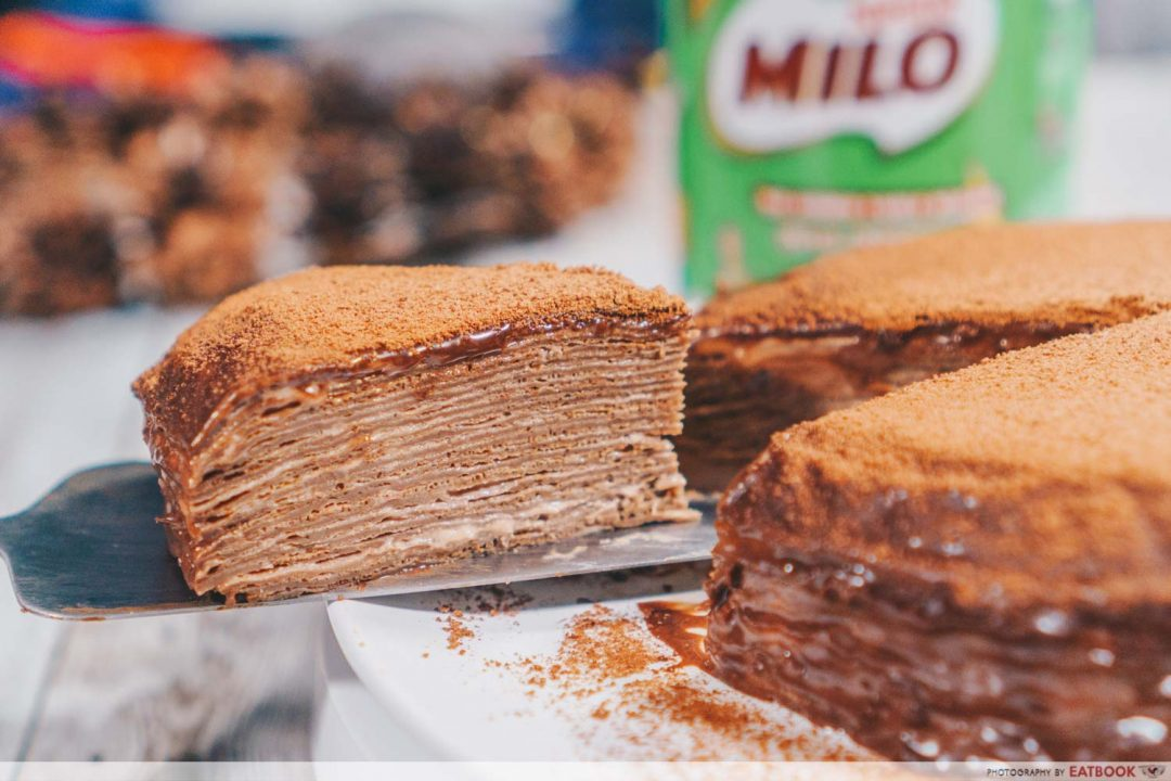 Milo Recipes - Milo Crepe Cake