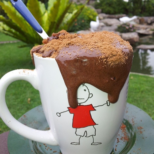 Mug Cake Recipes - Milo Mug Cake Overflowing