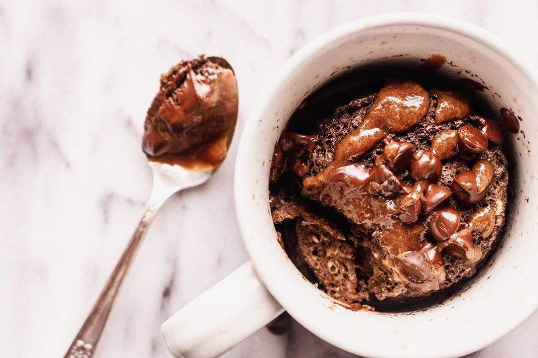 Mug Cake Recipes - Molten Lava Chocolate Mug Cake