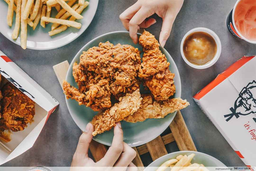 Recipes Famous Dishes - KFC Fried Chicken Flatlay
