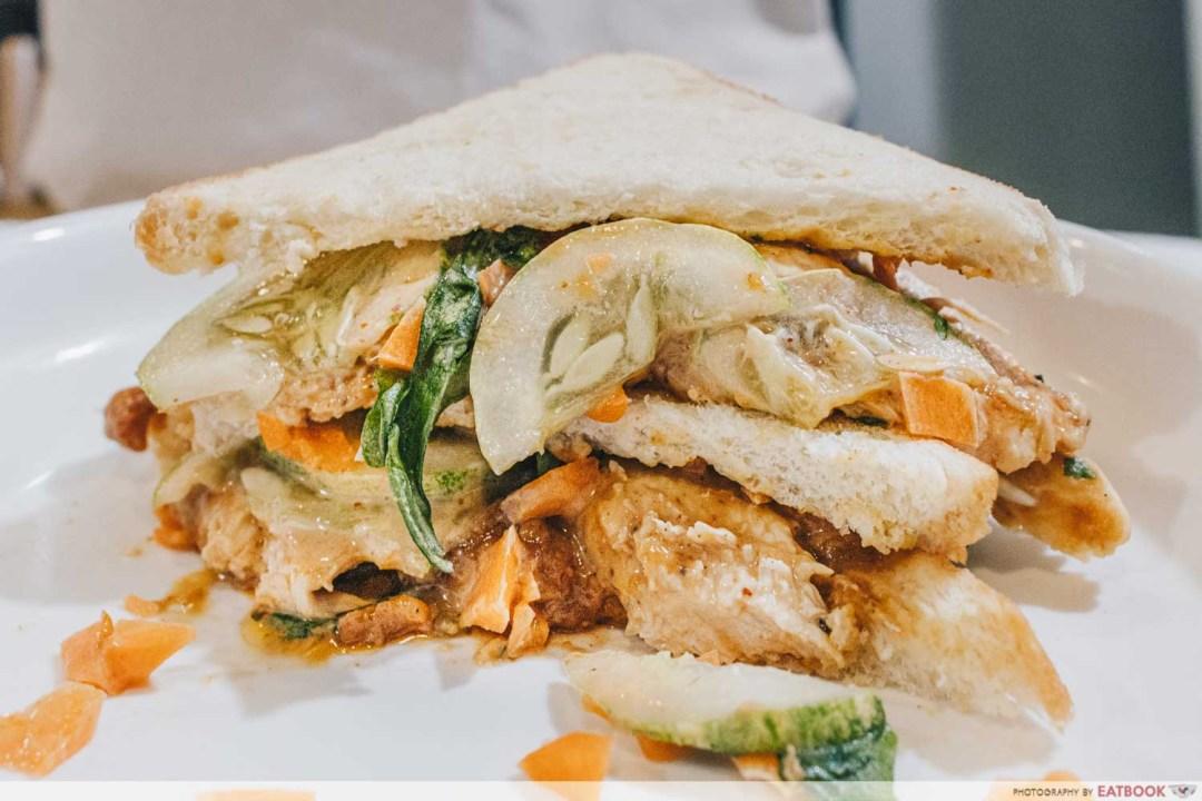 Sandwich Recipes - Chicken Satay Sandwich