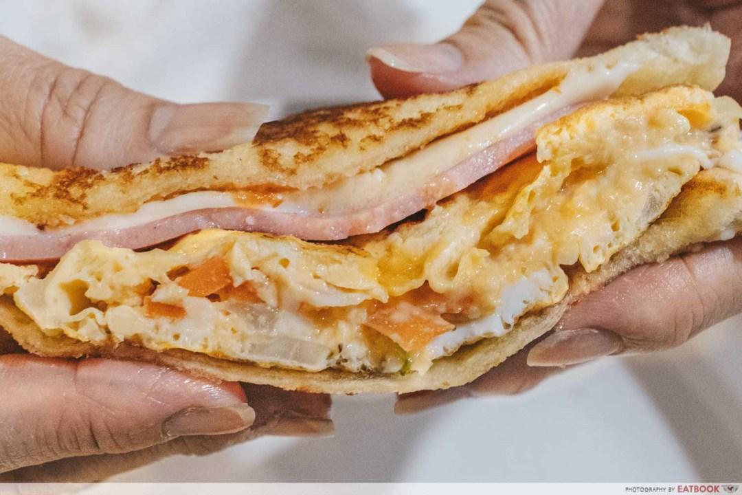 Sandwich Recipes - Korean Gilgeori Toast Close up