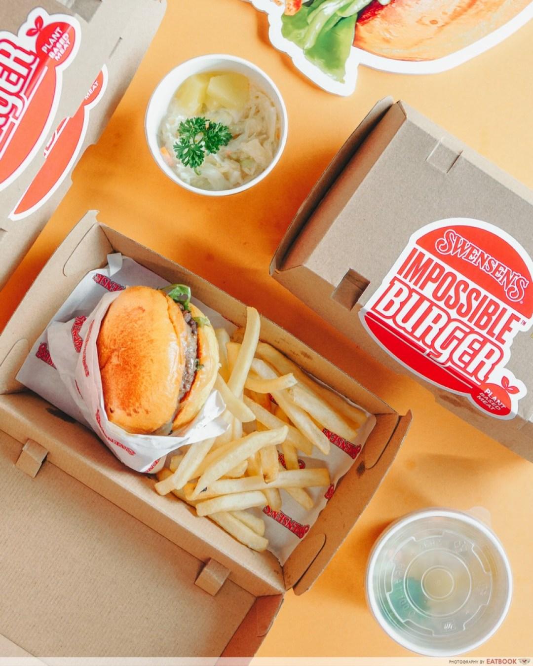 impossible meat online - swensens burger