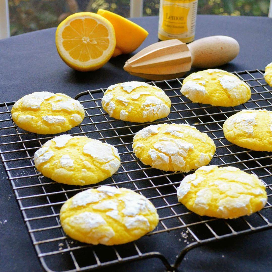 Cookie Recipes - Lemon Crinkle Cookies