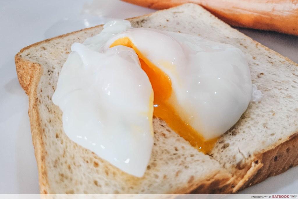 Easy Boiled Egg Recipes poached egg sliced