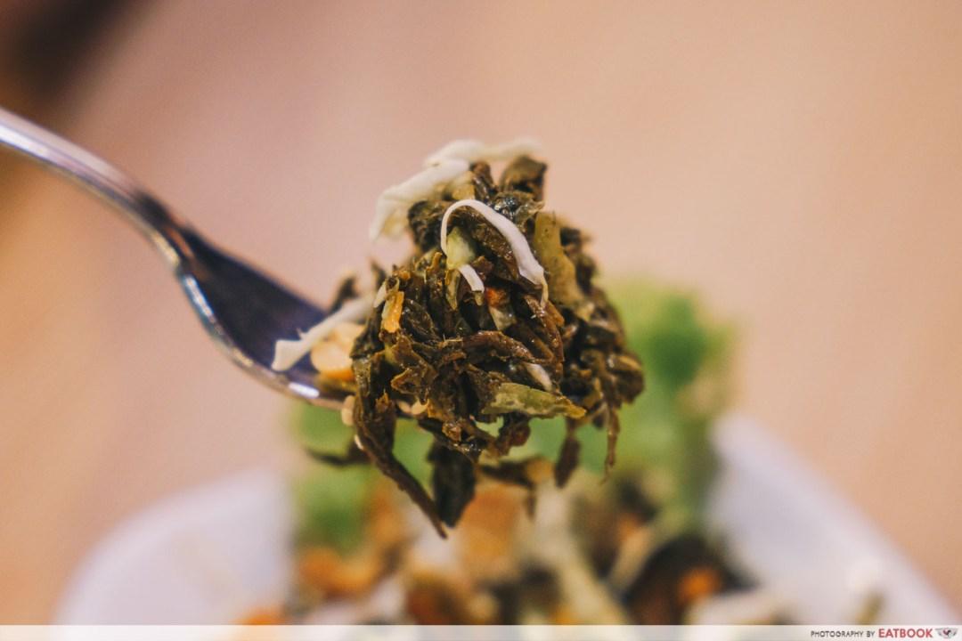 Inle Myanmar Restaurant - Spponful of tea leave salad