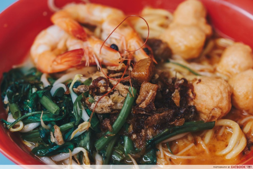 One Prawn Noodle prawn noodle topping