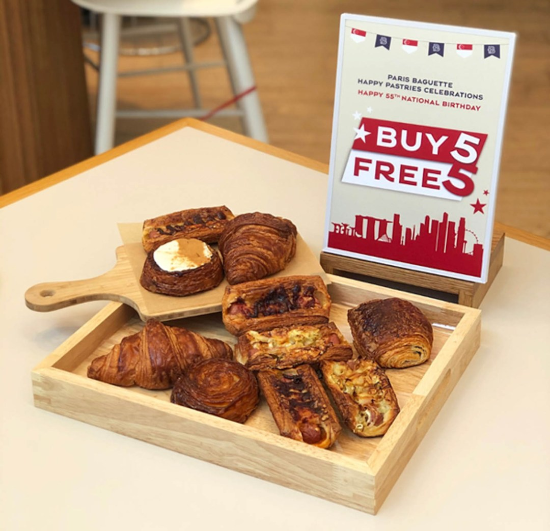 Paris Baguette 5-for-5 - national day 5 for 5 promotion