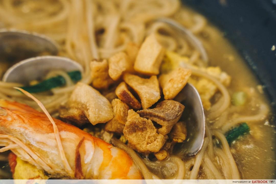 Try Fresh XO Seafood Noodles - Pork lard mee sua