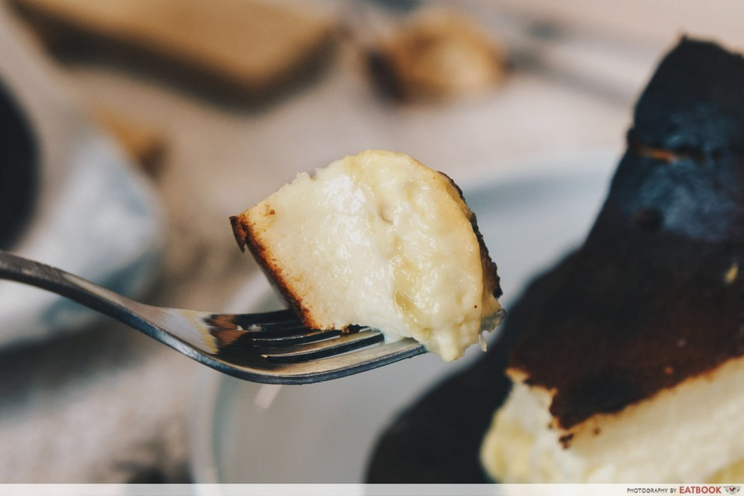 Keong Saik Bakery - mao shan wang cheesecake on fork