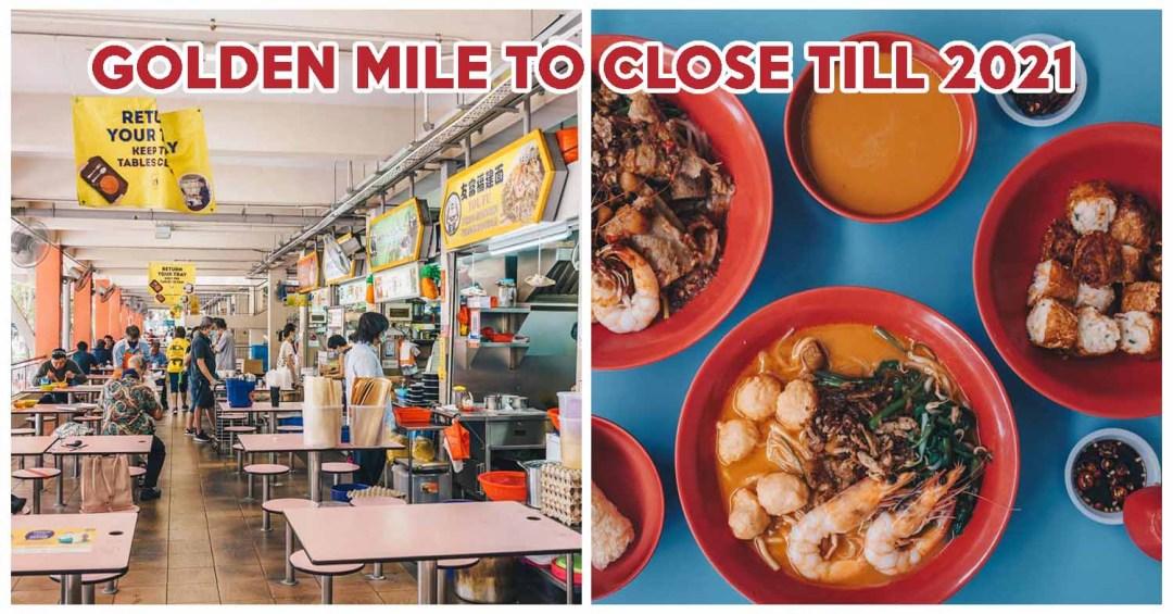 golden mile food centre renovation