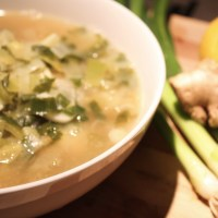 springtime ramp and garlic soup