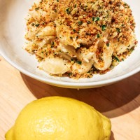 herb lemon pasta with breadcrumbs