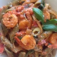 Penne Pasta w/ Shrimp and Vodka Sauce