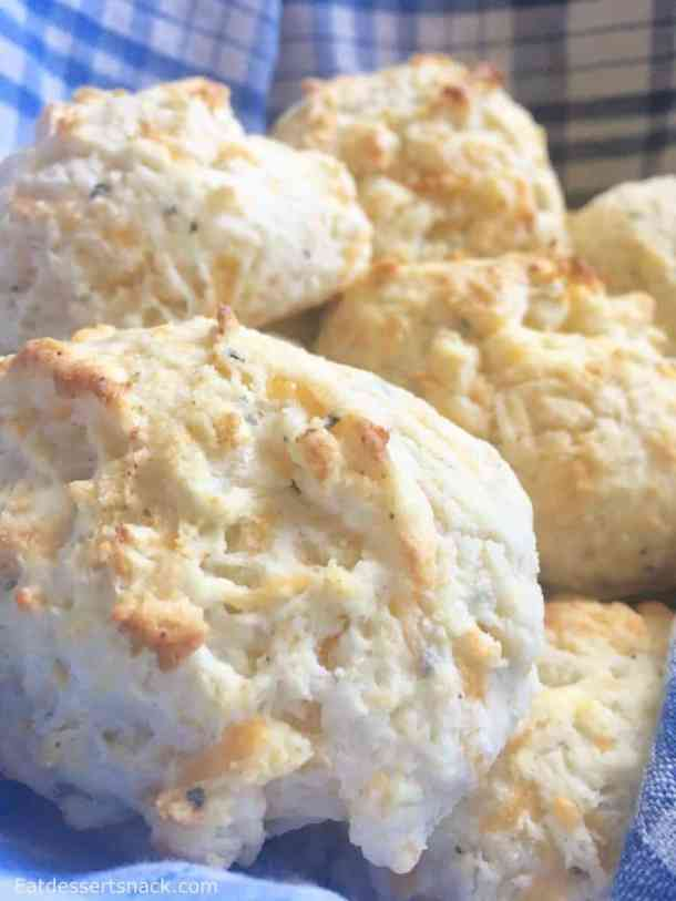 Cheese Biscuits just like the ones from Red Lobster! Easy, quick, fluffy biscuits with easy cleanup.