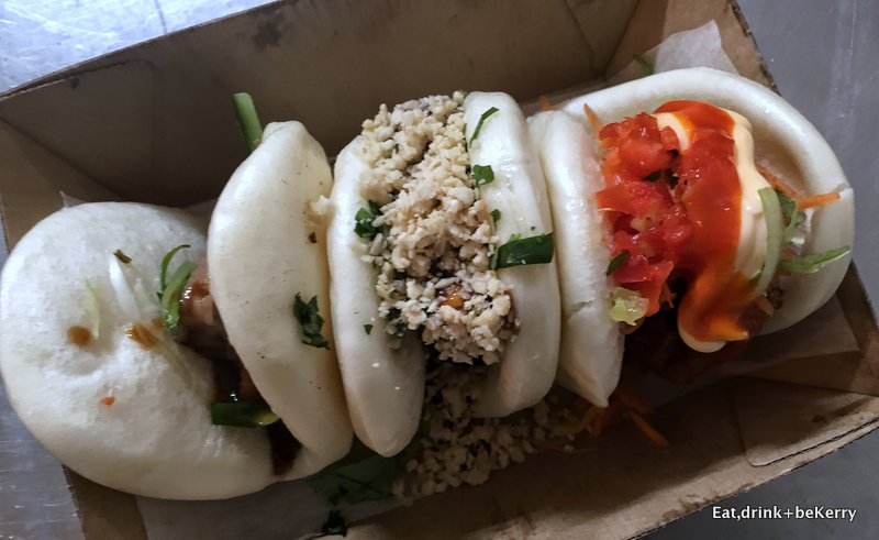 Bao Stop trifecta of fully steamed buns.