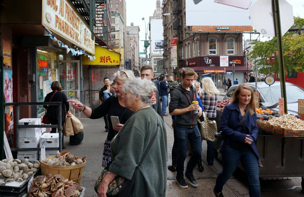 Ellen Gasnick, Big Apple's Greeter of the Year, showing me around New York's streets.